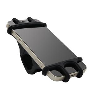 Slika od Drzac za mobilni telefon za bicikl/motor/kolica Soft grip crni