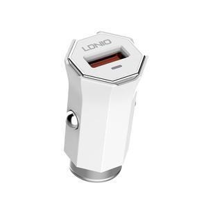 Slika od Auto punjac LDNIO C313Q USB 5V/3A FAST QC 3.0 za Iphone lightning beli