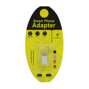 Slika od Adapter metalni sa micro na Iphone 5G/5S/SE/6G/6S/6 Plus srebrni