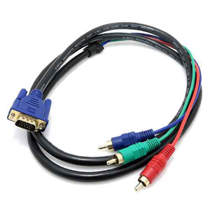 Slika od VGA kabal na 3 RCA 1.5m crni