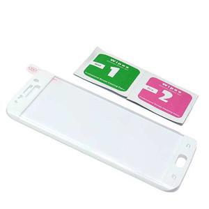 Slika od Folija za zastitu ekrana GLASS 3D za Samsung G925 Galaxy S6 Edge zakrivljena bela sa sljokicama