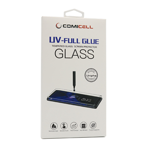 Slika od Folija za zastitu ekrana GLASS 3D MINI UV-FULL GLUE za Samsung G991F Galaxy S21 zakrivljena providna (bez UV lampe)