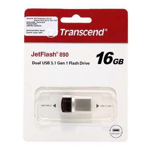 Slika od Transcend OTG flash memorija  16GB USB-Type C srebrna