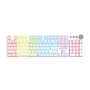Slika od Tastatura gejmerska mehanicka zicna MK852 MAXCORE (brown switch - KLIK) bela FANTECH