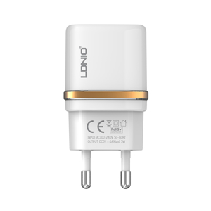 Slika od Kucni punjac LDNIO DL-AC50 USB 5V/1A za Iphone lightning beli