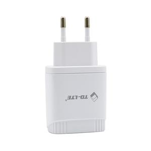 Slika od Kucni punjac Comicell TD-FT96 FAST 2.4A 2xUSB za iphone lightning beli
