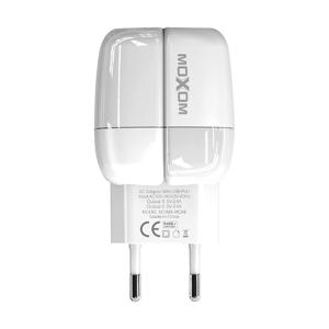 Slika od Kucni punjac Moxom MX-HC48 2xUSB 2.4A Iphone lightning beli