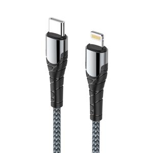 Slika od USB data kabal LDNIO za iPhone Type C na lightning 30W HQ sivi LC111 1m