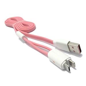 Slika od USB data kabal REMAX Twins RC-025t 2in1 za Iphone lightning/micro USB roze 1m